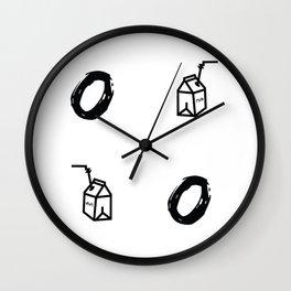 """Milk"" XOX Wall Clock"