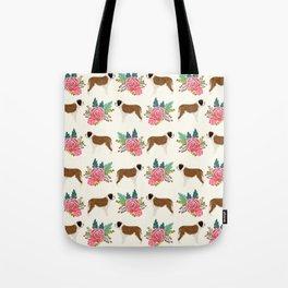Saint Bernard florals dog breed floral bouquet dog pattern minimal pet friendly Tote Bag