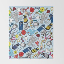 Lord of Time Megamix Blue Throw Blanket