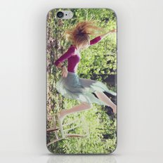 This skirt was made for falling iPhone & iPod Skin