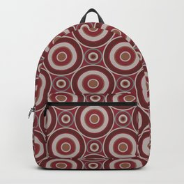 Wine Bubbles Retro Circle Seamless Pattern Design Backpack