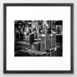 Lend me you ear and I'll sing you a tune... Framed Art Print