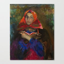 MAKOVSKY, VLADIMIR (1846-1920) The Collapse of a Bank Canvas Print