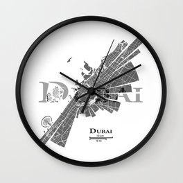 Dubai Map Wall Clock