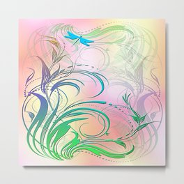 Dragonfly in the Sunshine Metal Print