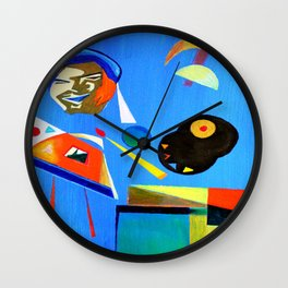 Self-portrait of the Artist painting Wall Clock
