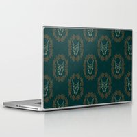 charizard Laptop & iPad Skins featuring Charizard Skull by Kayla Catherine Illustration