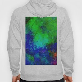 Awaken - Blue, green, abstract, textured painting Hoody