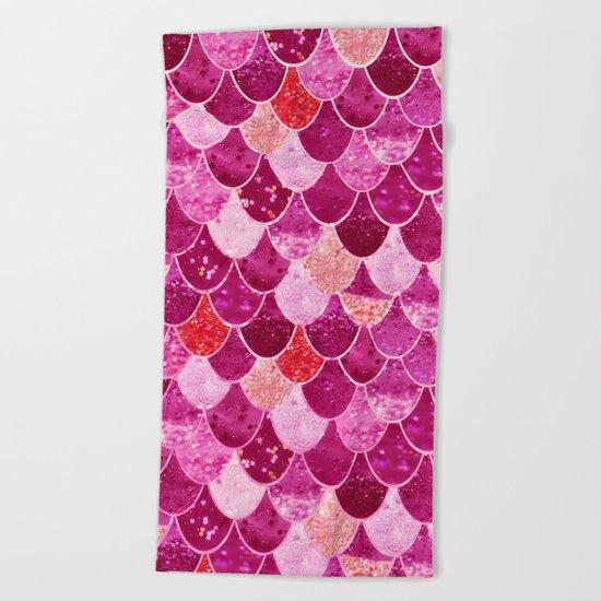 PINK  MERMAID Beach Towel