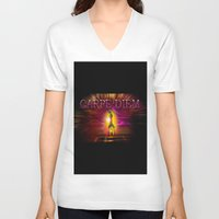 carpe diem V-neck T-shirts featuring Carpe Diem by Walter Zettl