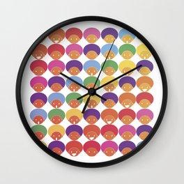 Afro Rainbows Wall Clock