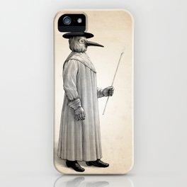 Plague Doctor Human Anatomy Art Print iPhone Case