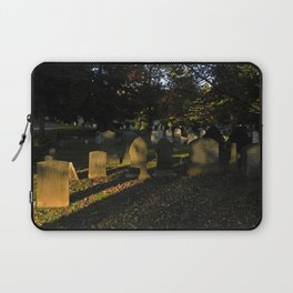 Headstones in a Fall Sunset Laptop Sleeve