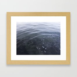 Circle in the water Kits Beach Vancouver Framed Art Print