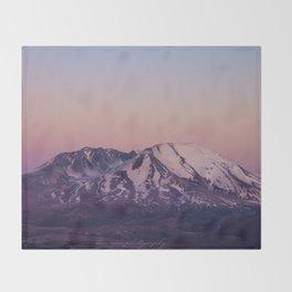 Mount Saint Helens at dusk Throw Blanket
