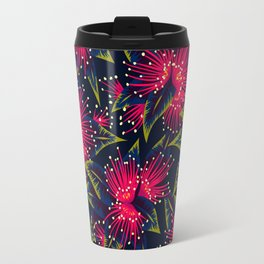 New Zealand Rata floral print (Night) Travel Mug