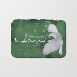 To Whatever End (Green) Bath Mat