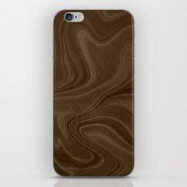 Chocolate Brown Swirl iPhone Skin