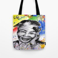 mandela Tote Bags featuring Mandela forever by sladja