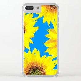 Sunny Sunflowers with blue sky - summer mood - #Society6 #buyart Clear iPhone Case