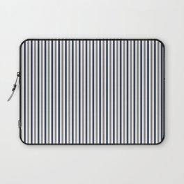 Navy White And Grey Vertical Stripes Laptop Sleeve