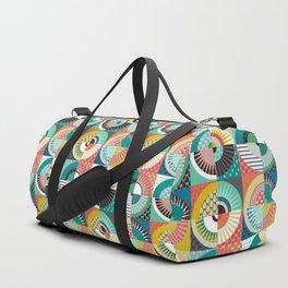 llama geo squares Duffle Bag