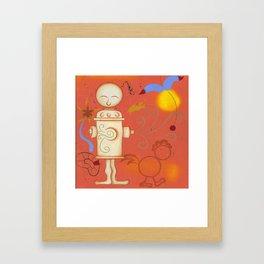 Lady Miro Hydrant Framed Art Print