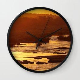 Golden hour in Africa Wall Clock