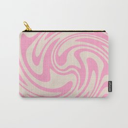70s Retro Swirl Pink Color Abstract Carry-All Pouch