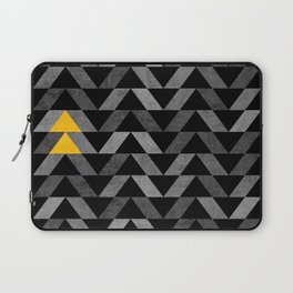 Triangle -Yellow and Grey Laptop Sleeve