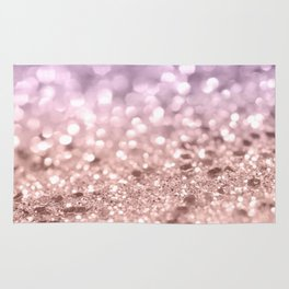 Rose Gold Blush Purple MERMAID Girls Glitter #1 #shiny #decor #art #society6 Rug