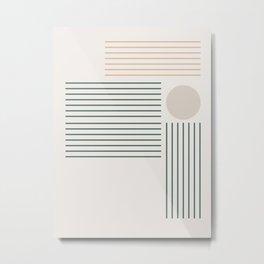 Lines & Circle 03 Metal Print