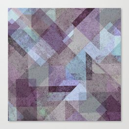 PLUM TURQUOISE ABSTRACT GEOMETRIC Canvas Print