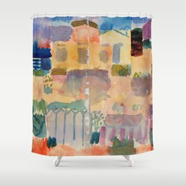 "Paul Klee ""Garden in St. Germain, The European Quarter Near Tunis 1914"" Shower Curtain"