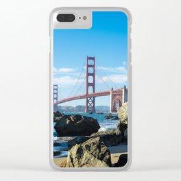 Golden Gate Bridge from Baker Beach Clear iPhone Case