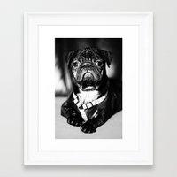 pug Framed Art Prints featuring Pug by Falko Follert Art-FF77