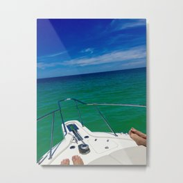 Gulf of Mexico Boat Ride Metal Print