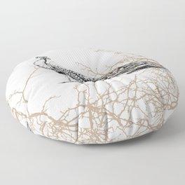 Peacock print Floor Pillow