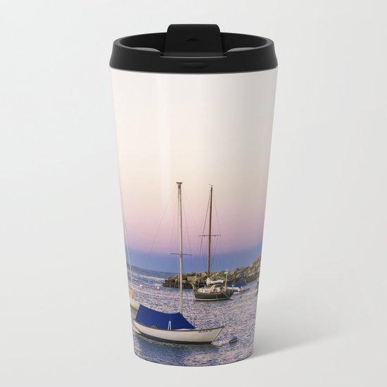 Earth's shadow over the harbor Metal Travel Mug