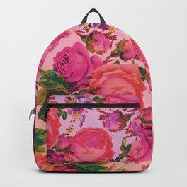 Sun Bleached Rose Print Backpack