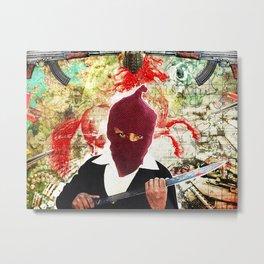 Mi Caballo Rojo Metal Print
