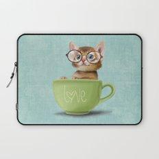 Kitten with glasses Laptop Sleeve