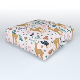 Cute Fawn Outdoor Floor Cushion