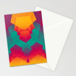 Pentagon Vibrancy Stationery Cards