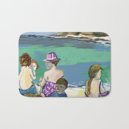 Esmeralda & Brood (Saw Sea Art Series) Bath Mat