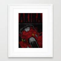 akira Framed Art Prints featuring AKIRA by Zorio