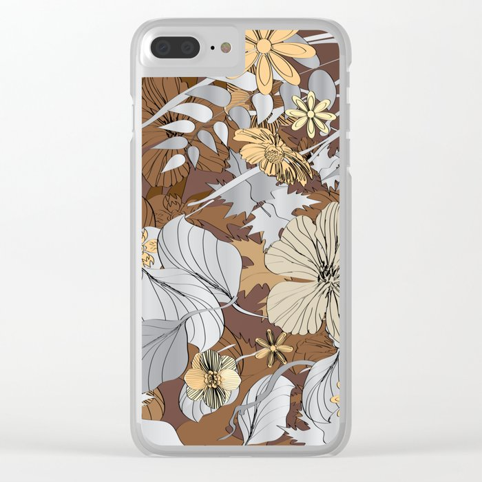 Sketch Garden IX Clear iPhone Case