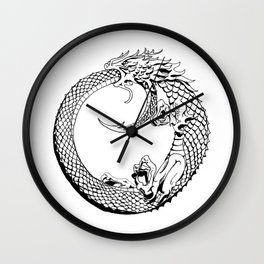 The Wyrm has Turned Wall Clock