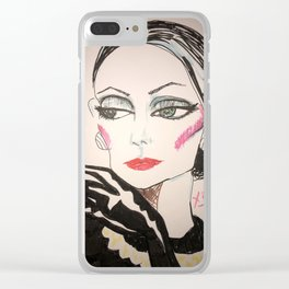 Society Dame Clear iPhone Case