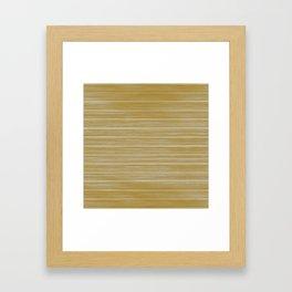 Fall Colors Trends Spicy Mustard Yellow Beach Hut Cladding Framed Art Print